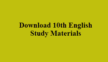 Download 10th English Study Materials